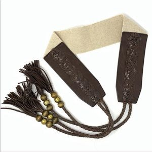 Betsey Johnson Faux Leather Strappy Belt Size S/M